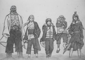 Gathering of the Five Kages by HYUUGACLAN1