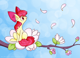Blossoming Applebloom by Faikie