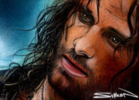 Aragorn Sketch Card 2 by RandySiplon