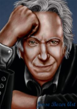 Alan Rickman by Evaliir