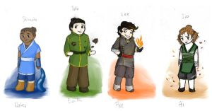 The Four Elements by ThroughMyThoughts