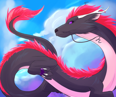 Pink Fur Dragon [Contest] by Graya7