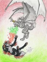 Fiery playmates by Paperiapina