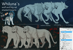 Whilunas Wolf And Big Cat Linearts by Whiluna