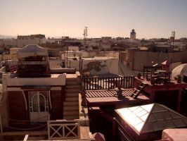 Rooftops of Essaouira by beam-of-moon