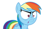 Rainbow Dash Rage Face Vector by Rebron-y