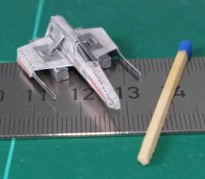 E-Wing Starfighter - Star Wars miniature by SarienSpiderDroid