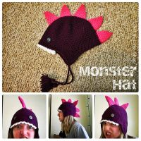 Monster Hat by the-carolyn-michelle