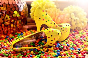 Yellow Candy shoes by PhotoBySavannah