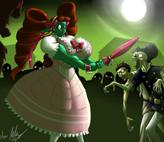 Steampunk Zombie Apocalypse...and Hydie by Strangerataru