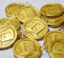 Professor Layton Coin Charm Necklace by Tsurera