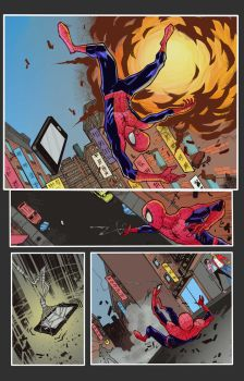 Marvel Spidey Comic Page by MoatazSayed
