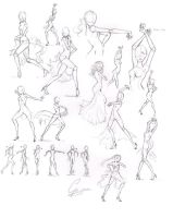 Solo Paso Doble Poses, practice by ChocotanYuu