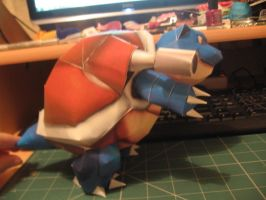 Blastoise papercraft - Side by sazmullium