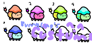 Pudding Creatures! ~Open~ by BunnyCupAdoptables