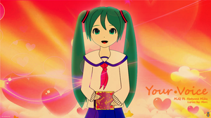 Hatsune Miku - Your Voice by mjq3690