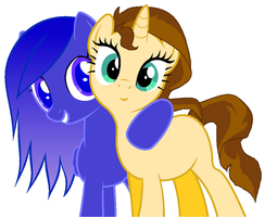 Moonbeam Angel and Vick by StormDragon3