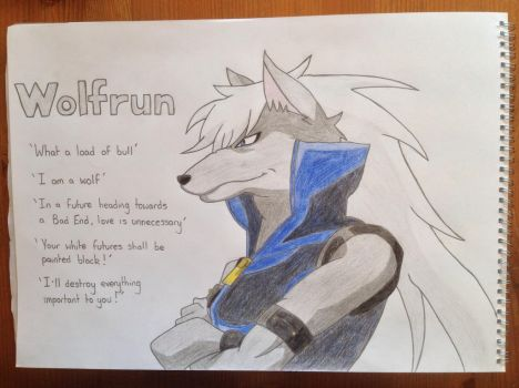 Wolfrun Tribute: Line Art #2 (coloured) by Woody897