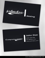 Dark Business Card by Freshbusinesscards