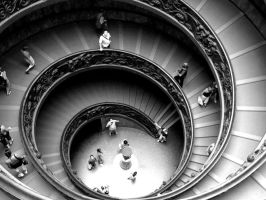 Vatican Stairs by lillycalin