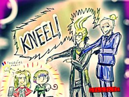 Double kneel(APH AND THOR) by GILGILIE