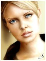 Charlize Theron by IcedWingsArt
