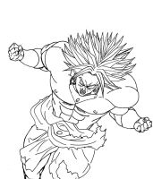 Broly (outline) by azuregundam