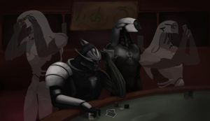 Chilling at the Casino - WIP 5 by VillageIdiot55