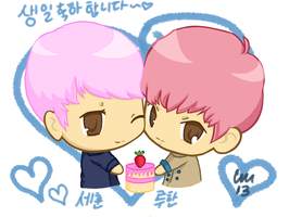 HunHan Birthday by chaixing