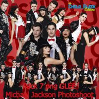 Pack 7 PNG Glee Photoshoot Michael TV Guide HQ by CheloGleek
