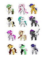 *CLOSED FOR JUDGING* DTA Pony Adopts by Mochikuu