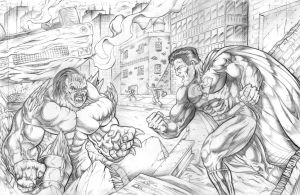 Superman Vs. Doomsday by Robert A. Marzullo by robertmarzullo