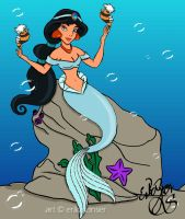 Pinup Mermaids: Jasmine by glimpen