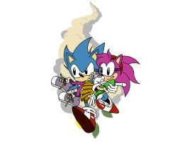 Sonic and Amy Color-Sonic CD Contest Entry by BroDogz