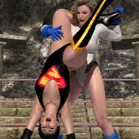 Cosplay Power Girl vs Super Woman 047 by CalvadosJapan