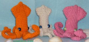 3 Colorful Squid Friends by 13anana