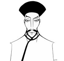 Christopher Lee as 'Fu Manchu' by Sepulchrave