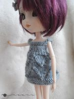 Hand knit lace dress for Pullip by kivrin82