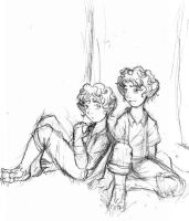 Merry and Pippin as kids by firnantowen