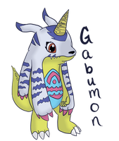 Gabumon by flowertigers