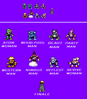 Mega Man Ultima Main Bosses by Unknowni123