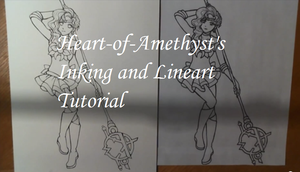 Heart-of-Amethyst's Lineart and Inking Tutorial by Heart-of-Amethyst