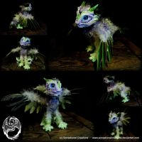 Tajewel - Handmade OOAK Poseable Car Guardian by SonsationalCreations