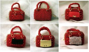 Houndstooth Purse Accessory Variations - Prototype by pinkythepink
