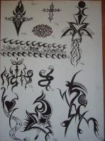 1993 SILLY TATTOO DESIGNS III by FRANTASEE