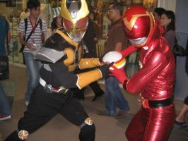 Kamen rider Agito and Akared 1 by nikocruz