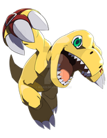 Agumon (2006) card by Riza23