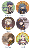 Fire Emblem: Awakening (Buttons) by VeniceLatte
