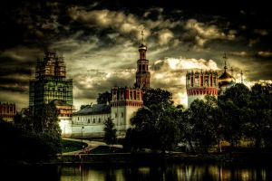 moscow. novodevichiy monastery by moitisse