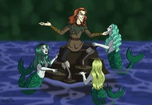 Loki Comforts the Rhinemaidens
